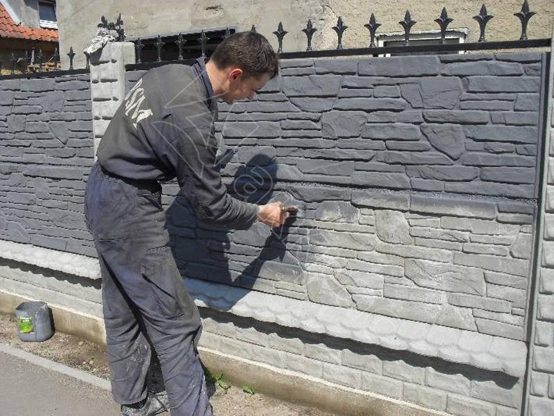 покраска бетонного забора варианты фото